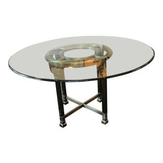 Mastercraft Brass Greek Key Dining Table For Sale