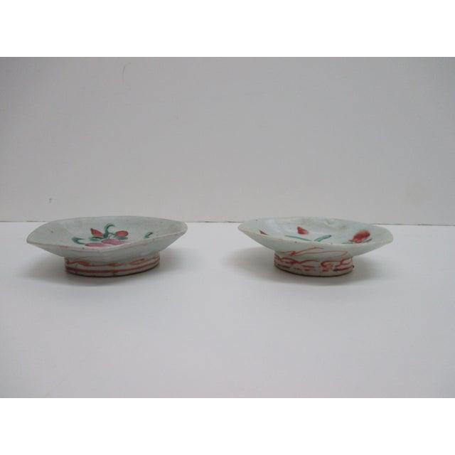 Vintage Bone China Pair of Trinket Petite Dishes Sizes: 4 x 4 x 1