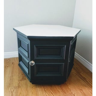 Traditional Black Hexagonal End Table Preview