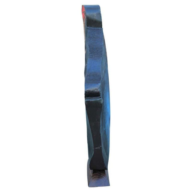 1990s 1990s Modern Abstract Organic Metal and Wood Sculpture Signed Schmidt For Sale - Image 5 of 11