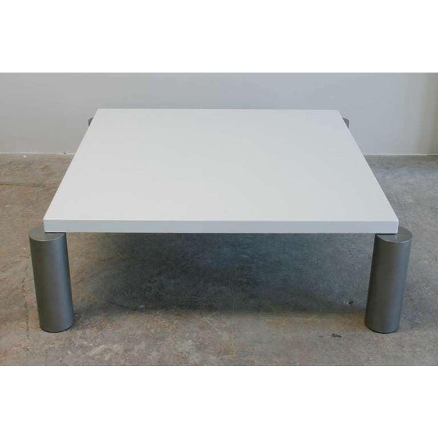 Mid-Century Modern Industrial Modern Coffee Table For Sale - Image 3 of 5