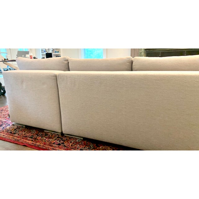 Italian Minotti Sectional Sofa With Chaise For Sale In New York - Image 6 of 12