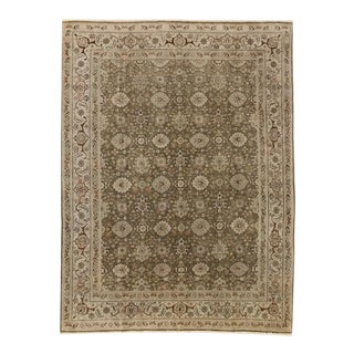 Antique Persian Tabriz Rug with Traditional Style in Warm Earth Tone Colors
