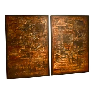 Modern Diptych Large Scale Abstract Painting, 2 Pieces For Sale