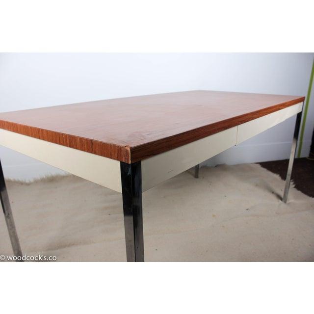Steelcase Modern Minimalist Writing Desk - Image 7 of 9