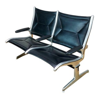 Mid-Century Eames Herman Miller 2-Seater Airport Bench For Sale