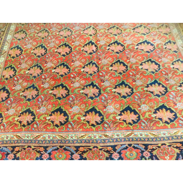 "Traditional 1920's Persian Bijar Rug-9'1'x12"" For Sale - Image 3 of 10"