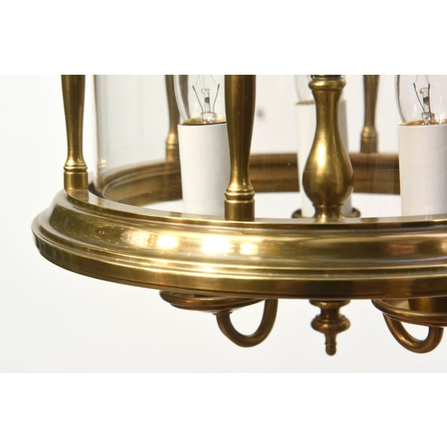 American Classical Brass and Glass Traditional Lantern For Sale - Image 3 of 4