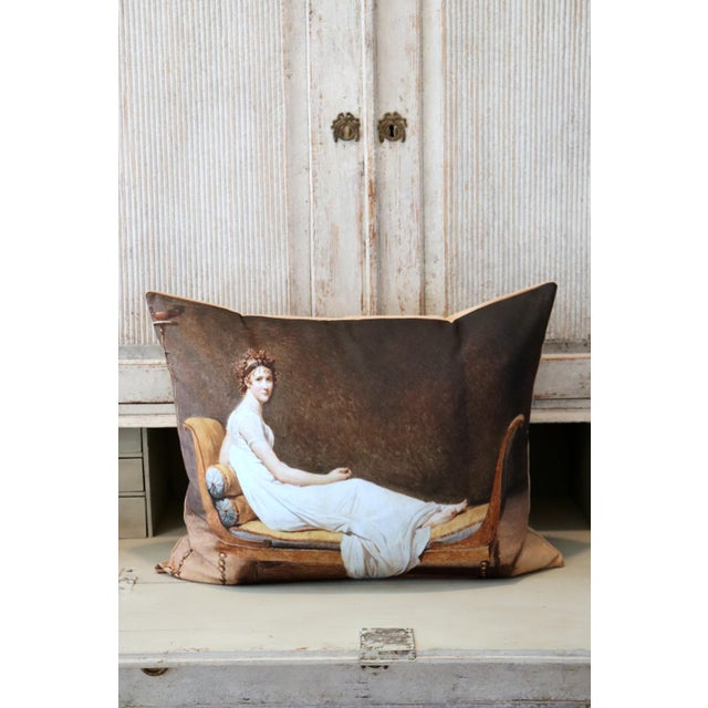 Paris Photo Pillow Juliette Recamier For Sale In Memphis - Image 6 of 12
