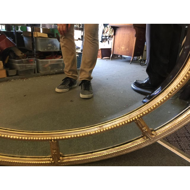 Chippendale Oval Gold Mirror For Sale - Image 3 of 8
