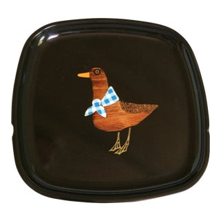 Vintage Couroc of Monterey Duck Tray For Sale