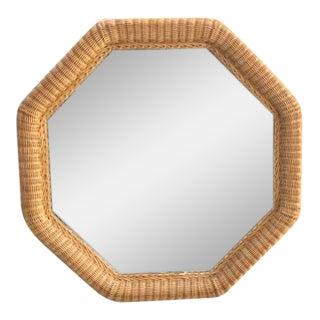 Tropical Chic Woven Wicker Octagonal Mirror
