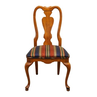 20th Century Queen Anne Style Dining Side Chair For Sale