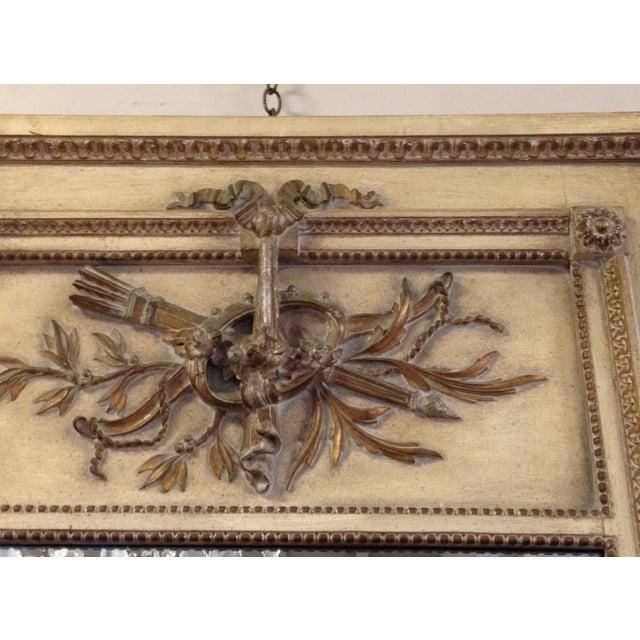 Vintage LXVI Style Painted Trumeau Mirror - Image 3 of 4