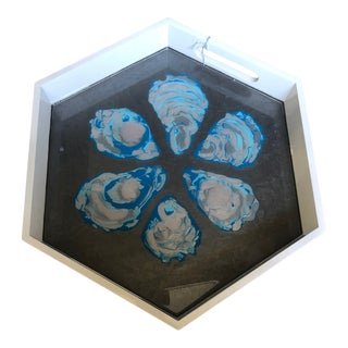 Oyster Tray by Blue Moon Art For Sale