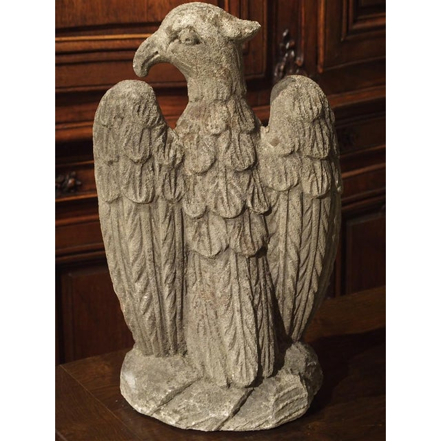 Carved Northern Italian Limestone Eagle Statue, 20th Century For Sale - Image 9 of 12