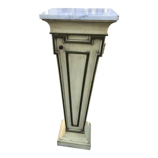 Mid-Century Marble Top Display Pedestal For Sale