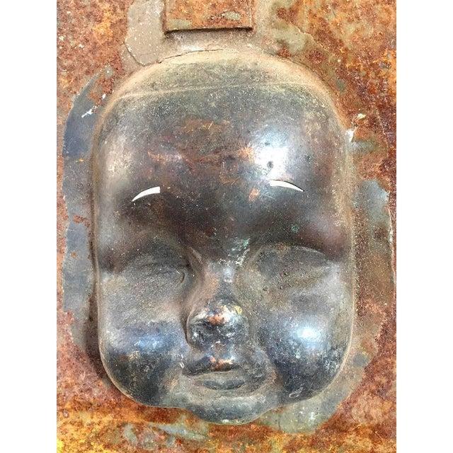 Decorative Metal Doll Head Molds Objet de Virtu on Custom Stands For Sale - Image 4 of 6