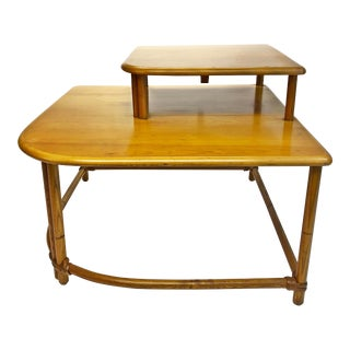 Mid Century Modern Bamboo Corner Table by Heywood Wakefield For Sale