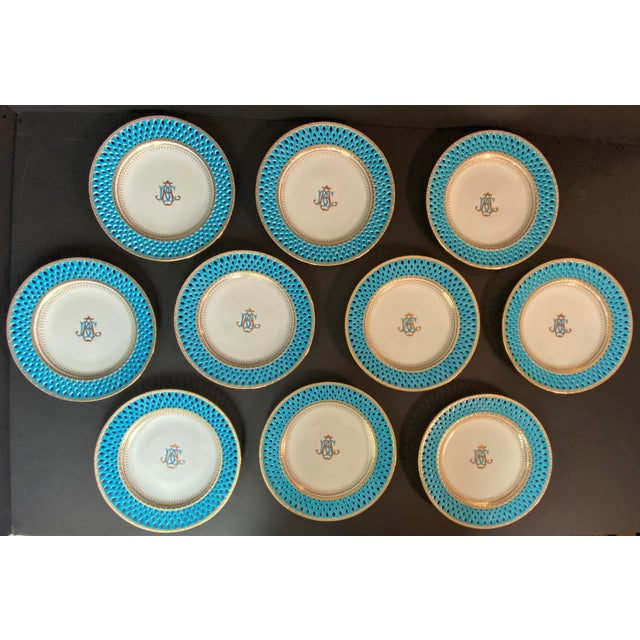 Late 19th Century Mintons Presentation Plates for Thomas Goode & Co. - Set of 10 For Sale - Image 13 of 13