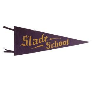 Antique Slade School Felt Flag Pennant For Sale