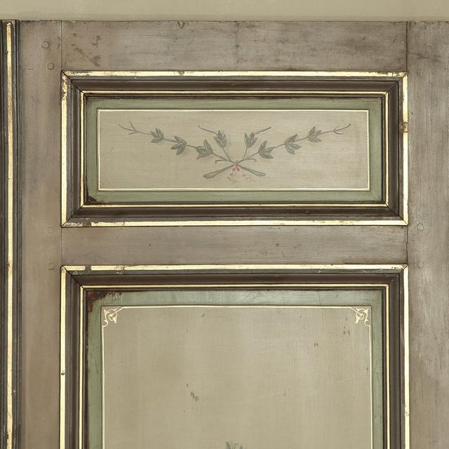 Pair 19th Century French Hand Painted Paneled Interior Doors For Sale - Image 4 of 13
