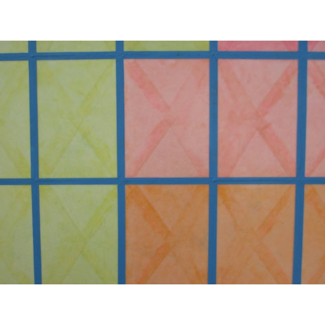 Geometric Painting by Nelson Dudley - Image 3 of 5