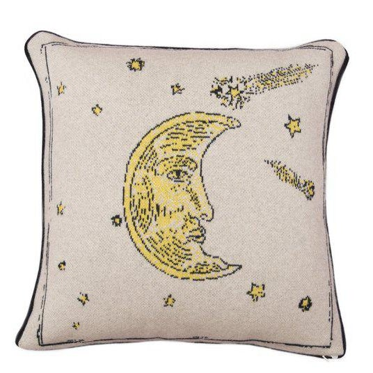 Contemporary Man In The Moon Cashmere Pillow For Sale - Image 3 of 3