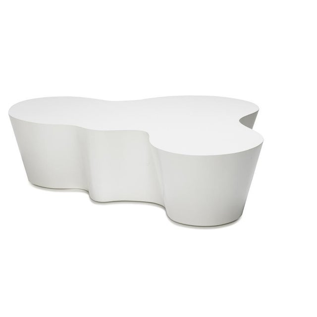 Contemporary Orgo Coffee Table, White For Sale - Image 3 of 3