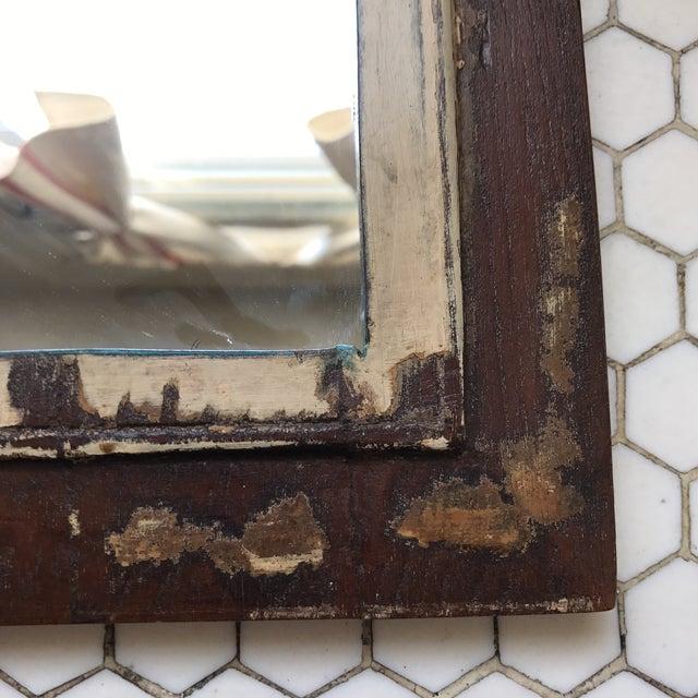 Vintage Indian Archway Painted Teak Mirror - Image 10 of 11