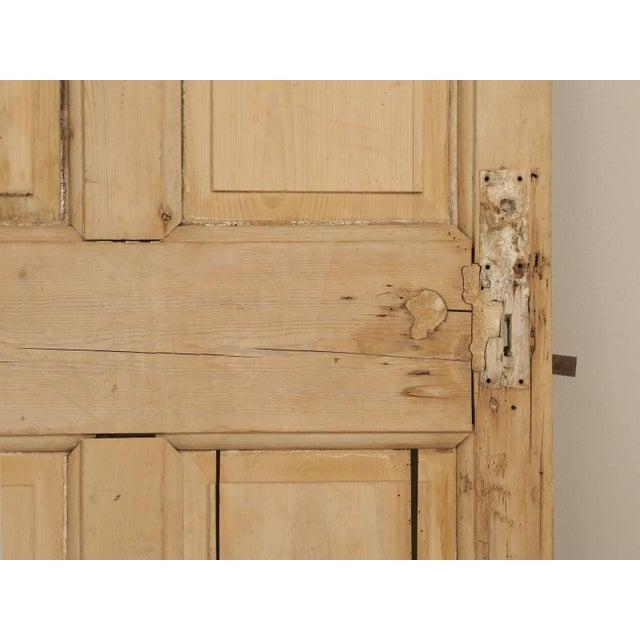 Antique Irish Scrubbed Pine Interior Door For Sale - Image 9 of 10
