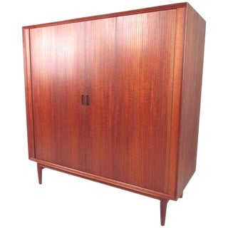 Mid-Century Arne Vodder Tambour Armoire for Sibast Møbler For Sale
