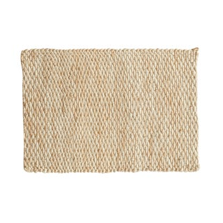 "Hand Braided Ivory Entrance Mat - 2'2"" X 3'1"""