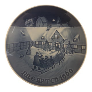 Bing & Grondahl Jule After 1969 Christmas Plate For Sale