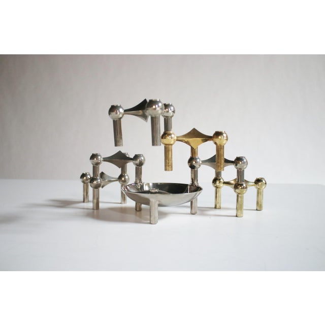 Caesar Stoffi Modular Candle Holders and Bowl by Nagel - Image 2 of 6
