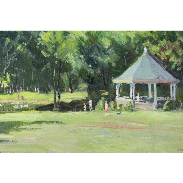 Mid 20th Century Vintage Mid Century Waterford Park Painting by Roger Dennis For Sale - Image 5 of 6