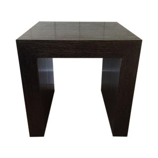 Cerused Black and Gold Side Tables - Pair For Sale