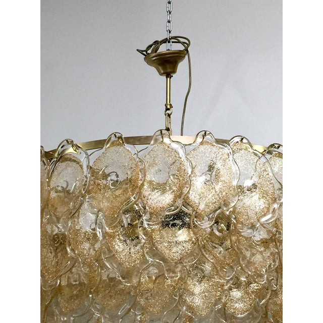 Mid 20th Century Gold Cloud Chandelier by Mazzega For Sale - Image 5 of 7