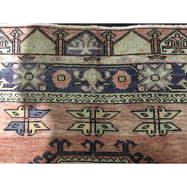"Vintage Turkish Oushak Runner - 4'4""x9'11"" - Image 9 of 10"