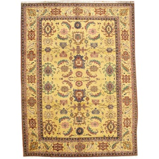 """Pasargad Ny Sultanabad Design Lamb's Wool Rug - 9' X 12'1"""" For Sale"""