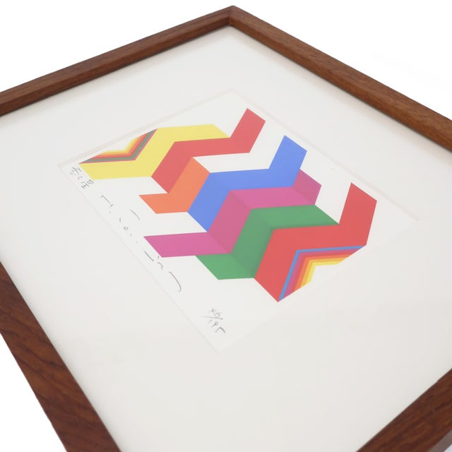 """1970s Framed Fumio Tomita """"Walking Star"""" Serigraph For Sale - Image 5 of 11"""