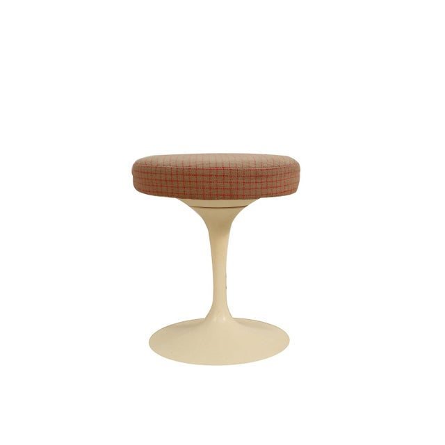 "Classic mid-century modern swivel ""Tulip"" stool designed by Eero Saarinen (USA 1910-1961) for Knoll Furniture..."
