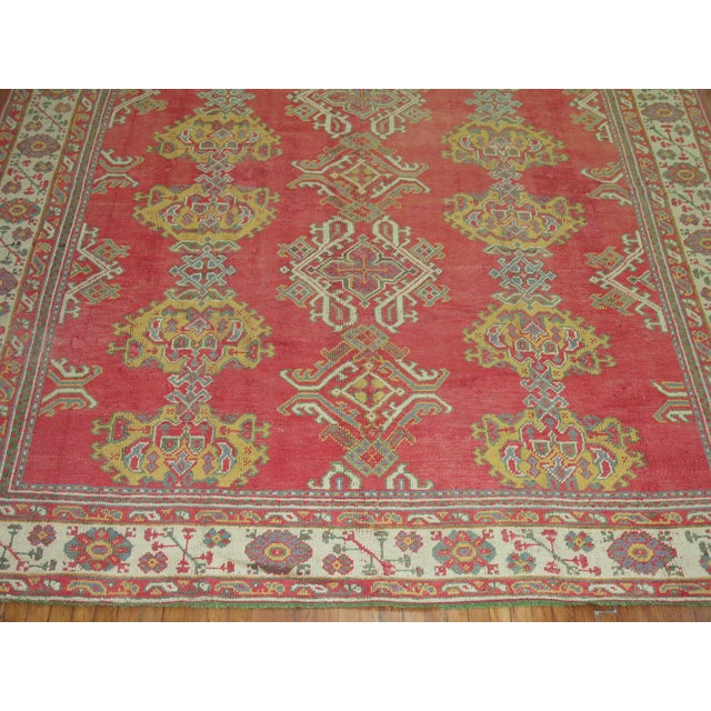 """Red Antique Turkish Oushak Rug - 9'6"""" X 12'3"""" For Sale - Image 8 of 9"""