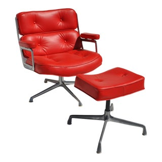 Herman Miller Time Life Lounge Chair and Ottoman For Sale