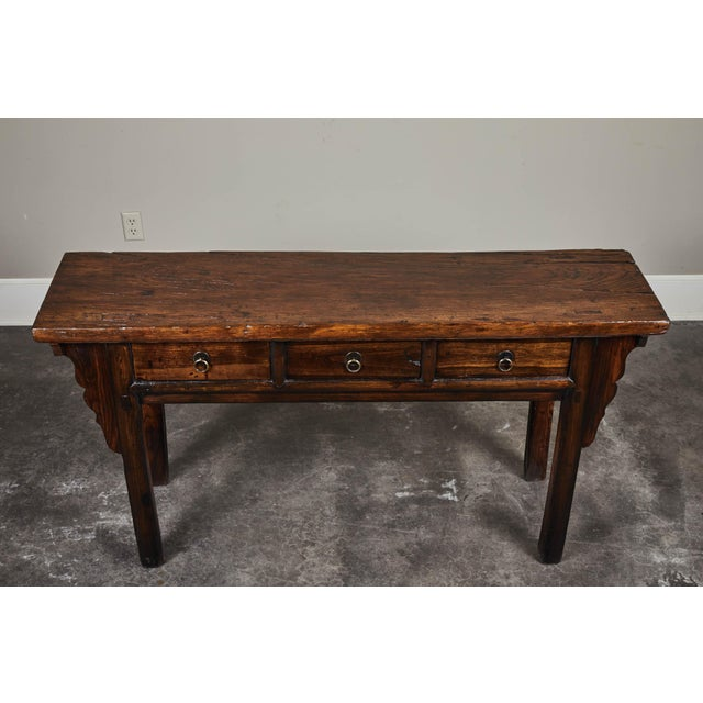 Mid 18th Century 18th C. Chinese Ming Style Elm Sideboard For Sale - Image 5 of 11