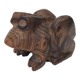 C.M. Copeland Carved Wood Frog For Sale