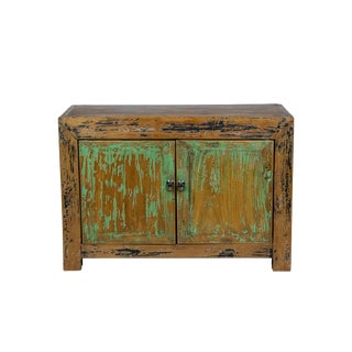 Antique Gansu Two Door Small Cabinet For Sale