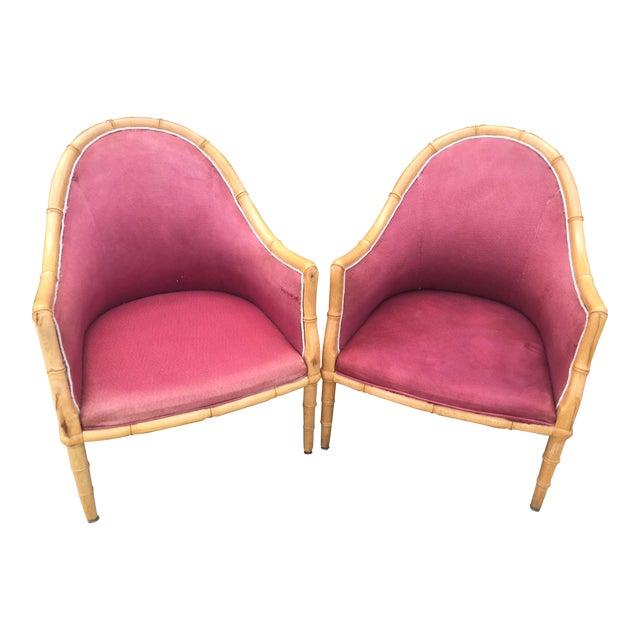 Enjoyable Pair Of Wooden Bamboo Accent Chairs Uwap Interior Chair Design Uwaporg
