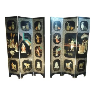 Antique Chinese Jade Screens - a Pair For Sale