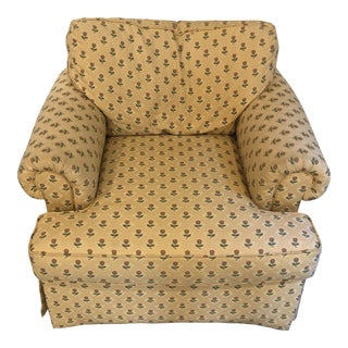 Baker Furniture English Club Chair For Sale